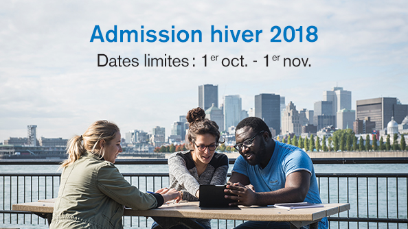 Admission hiver 2018